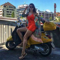 (notitle) - Vespa & more - Piaggio Vespa, Lambretta Scooter, Vespa Scooters, Scooter Scooter, Scooter Storage, Motos Vespa, Italian Scooter, Chicks On Bikes, Scooter Motorcycle