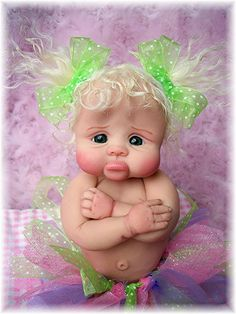 "❤OOAK HAND SCULPTED  BABY GIRL ""GRUMPY GABBY""   BY: JONI INLOW* DOLLY-STREET❤"