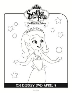 Disney Sofia the First Coloring Sheet