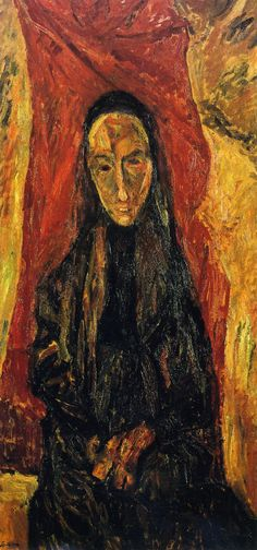 Portrait of a Woman (also known as The Widow), 1919 / Chaim Soutine