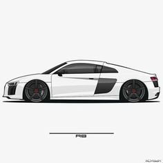 My Dream Car, Dream Cars, Audi R8 V10, Lamborghini Huracan, Car Silhouette, Car Vector, Car Drawings, Car Sketch, Mustang Cars