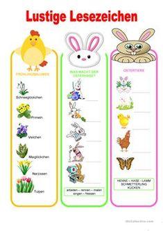 Lustige Lesezeichen - Ostern