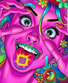 """Eye opening experiences"" 👁️ Artwork by Psychedelic Drawings, Trippy Drawings, Art Drawings, Psychedelic Artists, Trippy Pictures, Psychadelic Art, Dope Cartoon Art, Arte Cyberpunk, Trippy Painting"