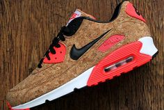 Sneakers Nike : Nikes iconic Air Max 90 silhouette will be celebrating its anniversary in 2015 and for the special occasion it has unveiled a Cork iteration. The sneaker features a unique cork-based upper Nike Air Max, Nike Sneakers, Air Max Sneakers, Nike Trainers, Adidas Shoes, Airmax Thea, Nike Air Pegasus, Baskets Nike, Sneaker Magazine