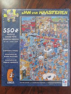 Ceaco Jan van Haasteren Fire Station Jigsaw Puzzle NEW 550 pc  #Ceaco