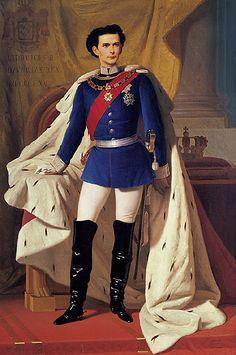 King Ludwig II, by Ferdinand von Piloty, Munich, 1865.