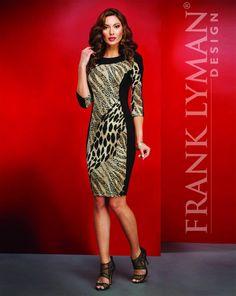 8d3bfb3e leopard print color block dress by Frank Lyman Design ~ mirellas.ca Animal  Print Dresses