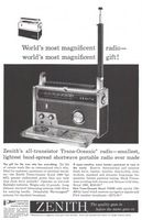 Zenith Royal 1000 Trans-Oceanic Radio 1960 Ad Picture