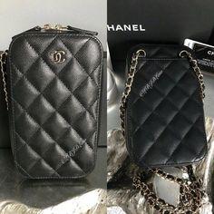 16b04c9f8844d0 NWT CHANEL Black Caviar Phone Holder WOC Wallet On Chain MINI Crossbody  2018 NEW #CHANEL
