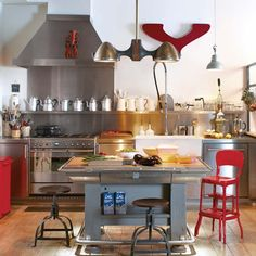 Explore amazing art and photography and share your own visual inspiration! Ikea, Industrial Loft, Home Kitchens, Kitchen Dining, Home And Garden, Inspiration, Table, House, Home Decor