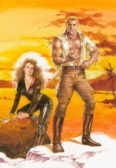 Doc Savage in color by Tony DeZuniga Comic Art