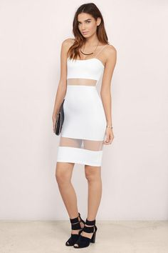 Find this and many more must have little white dresses at www.tobi.com | #SHOPTobi | #LittleWhiteDress |