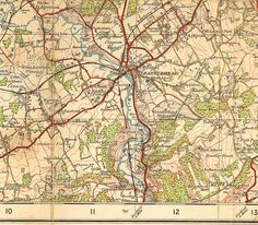 old OS map of Leatherhead area c.1920 by paul (england), via Flickr
