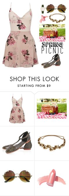 """""""Spring Picnic"""" by teennetwork ❤ liked on Polyvore featuring Lipsy, Jennifer Behr, Elizabeth Arden and Henry London"""
