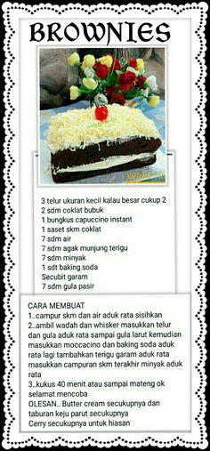 Brownie Recipes, Cake Recipes, Snack Recipes, Cooking Recipes, Snacks, Bolu Cake, Resep Cake, Bread Cake, Simply Recipes
