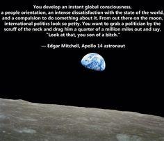Edgar Mitchell, Apollo 14 astronaut.