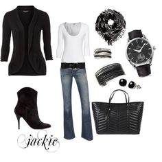 Dressing up denim, created by jackie22 on Polyvore