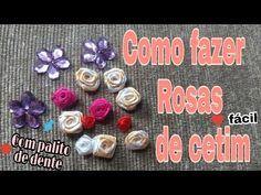 Passo a passo: flor de fita de cetim - YouTube