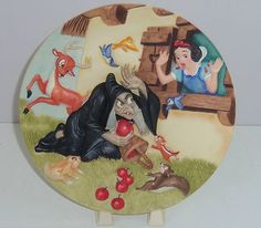Disney Store Snow White Collector Plate Wicked Queen Apples Seven Dwarfs LE 5000 $124.95