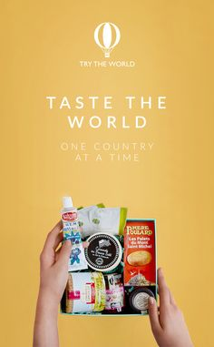 Let Try The World take you on a culinary journey to distant cultures. Receive a gourmet box every 2 months from a different country.