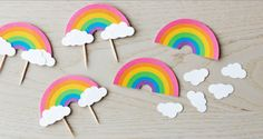 Cute rainbows on tooth picks!