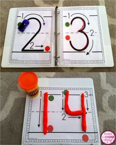 Simple posters to put in centers to teach students how to write numbers correctly