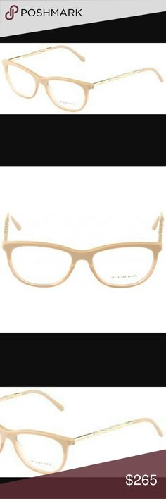 45f703dfbc Holiday STEAL    Burberry glasses Beautiful nude two toned plastic frame  with semi