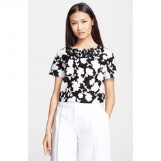 40% off Kate Spade New York - Crop Top Graphic Floral Print Black - $166.80 #katespade #katespadenewyork #floral #croptop