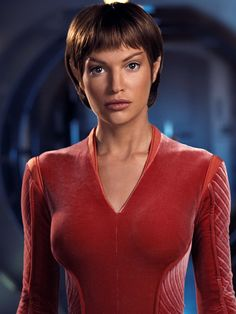 """Star Trek: Enterprise Jolene Blalock as Subcommander T""""Pol"""