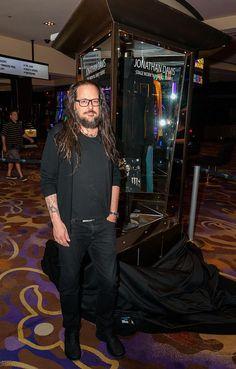 Jonathan Davis Unveils Memorabilia Case at Hard Rock Hotel & Casino Las Vegas Jonathan Davis, Nu Metal, Photo Grouping, Hard Rock Hotel, Slipknot, Korn, Celebs, Celebrities, Great Bands