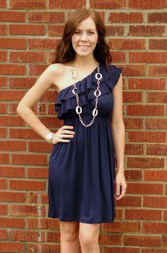 One Shoulder Jersey Knit Dress, $39.99