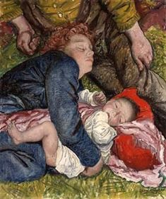 Sunday afternoon in Hyde Park By Dame Laura Knight ~Via Kay Haydon Hyde Park, English Artists, British Artists, Knight Art, Vintage Artwork, London Art, Mother And Child, Artist Art, Impressionist