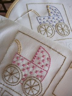 These would make beautiful quilt blocks to alternate with pieced ones...