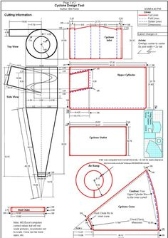 Dust Collection Research - Cyclone Plans