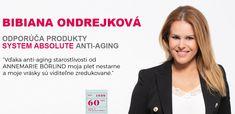 Slovenská moderátorka a herečka Bibiana Ondrejková patrí medzi dlhoročné stále zákazníčky, ktoré používajú produkty AMB. Bibiana si obľúbila líniu System Absolute Anti-aging. #annemarieborlind #borlind #systemabsolute #bibianaondrejkova Dado, Anti Aging, Life Hacks