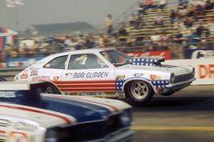 Bob Glidden's Pro Stock Pinto in 1975 Winston Finals at Ontario Motor Speedway