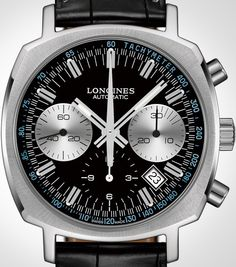 Longines Heritage 1973 Black Dial Watch