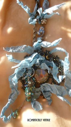 Antique Filigree  Medallion Crystal by RomanticallyVintage on Etsy, $72.50