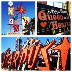 Take a tour and take pictures of our old school casino signs :)