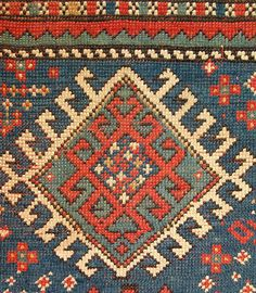 ANTIQUE CAUCASIAN SHIRVAN RUG Star Patterns, Cross Stitch Patterns, Crochet Home, Kilims, Rug Hooking, Tribal Rug, Woven Rug, Cross Stitch Embroidery, Oriental Rug