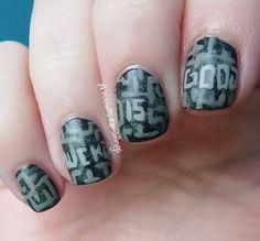 The Maze Runner nail art