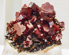 Vanadinite Crystals, Morocco, cobalt123
