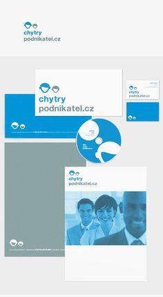 Logotype and corporate identity Chytry Podnikatel. Web Studio, Corporate Identity, Branding, Visual Identity