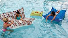 Floating Beanbags | 32 Outrageously Fun Things You'll Want In Your Backyard This Summer