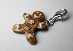 gingerbread man jewelry | Gingerbread Man Charm, Miniature Food Jewelry, Polymer Clay Food Charm