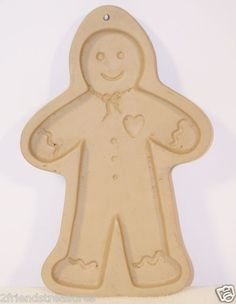 Gingerbread Man Cookie Mold Brown Bag Cookie Art Cook & Craft Mold 1992