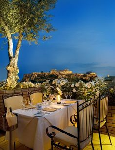Greece Travel Inspiration - The Olive Garden in Athens, Greece. Fabulous view and food. Athens Restaurants, Unique Restaurants, Greek Islands Vacation, Rooftop Restaurant, Olive Gardens, Acropolis, Greece Travel, Oh The Places You'll Go, Trip Advisor