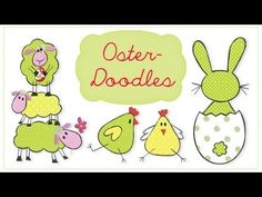 Osterdoodles + Stofflabels-Ebook - Easter doodles