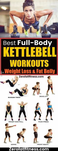 11 Best Full Body Kettlebell Workouts for Weight Loss and Flat Belly at Home Kettlebell Training, Full Body Kettlebell Workout, Kettlebell Deadlift, Squat Workout, Kettlebell Benefits, Kettlebell Circuit, Kettlebell Challenge, Workout Plans, Best Weight Loss Plan