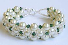 woven pearl bracelet